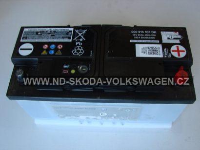 ORIGINÁLNÍ AUTOBATERIE 12V 95 Ah 450A/ 760A EN/SAE/GS UNIVER. VW/AUDI