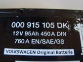 ORIGINÁLNÍ AUTOBATERIE 12V 95 Ah 450A/ 760A EN/SAE/GS UNIVER. DILY SKODA