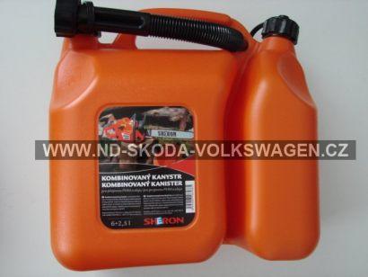 kombinovaný kanystr 6 + 2,5 lt oranžový