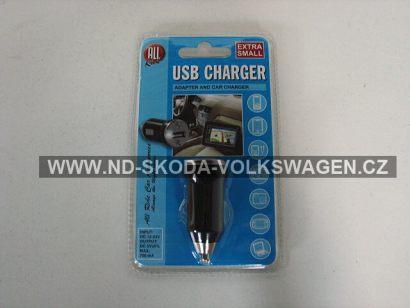 MINI NABÍJEČKA USB  DO AUTA (700mA, 12/24V)