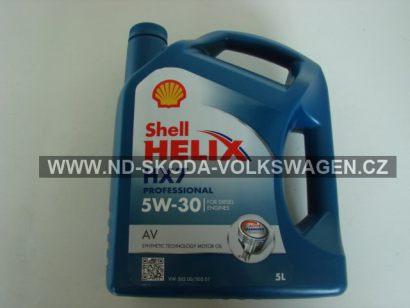 Motorový olej Shell Helix Diesel HX7 AV 5W-30 Plná syntetika 5L !  ,VW 502.00,505.00,505.01