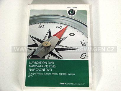 NAVIGAČNÍ DVD ZÁPADNÍ EVROPA (VERZE V7) PRO NAVIGACI ŠKODA RNS COLUMBUS/VW RNS 510/ RNS 810