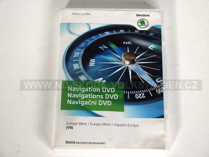 NAVIGAČNÍ DVD ZÁPADNÍ EVROPA (VERZE V8) PRO NAVIGACI ŠKODA RNS COLUMBUS/VW RNS 510/ RNS 810