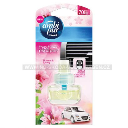 OSVĚŽOVAČ VZDUCHU DO AUTA AMBI PUR CAR FLOWERS  (POUZE NÁPLŇ 7ML)