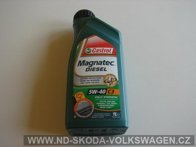 MOTOROVÝ OLEJ 5W-40 Diesel CASTROL PLNÁSYNTETIKA 1L ( JIŽ SE NEVYRÁBÍ ) !!!