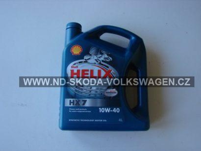 SHELL HELIX HX7 10W-40  4L NORMA API SM/CF;ACEA A3/B4;VW 50200/50500
