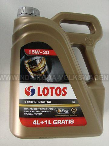 SYNTETICKÝ OLEJ LOTOS SYNTHETIC C2+C3 SAE 5W-30 5 L (4 L +1 L ZDARMA!!!!) SPECIFIKACE: VW 502.00, VW 505.01