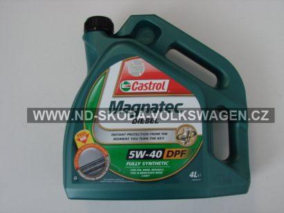 MOTOROVÝ OLEJ 5W-40 Diesel CASTROL PLNÁ SYNTETIKA 4litry pro DPF Filtr