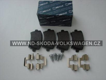 Zadní brzdové destičky AUDI A6 2005><2011 4F