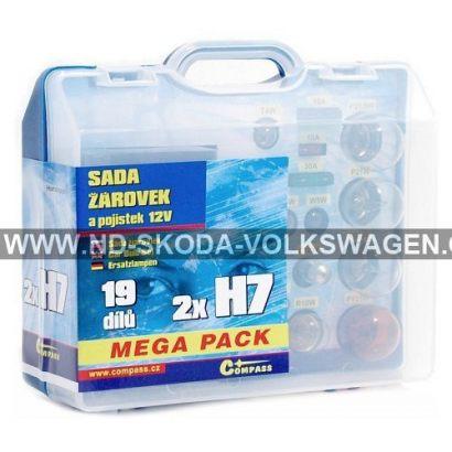 ŽÁROVKY SERVISNÍ BOX MEGA H7+H7+POJISTKY