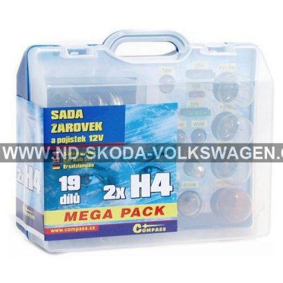 ŽÁROVKY SERVISNÍ BOX MEGA H4+H4+POJISTKY