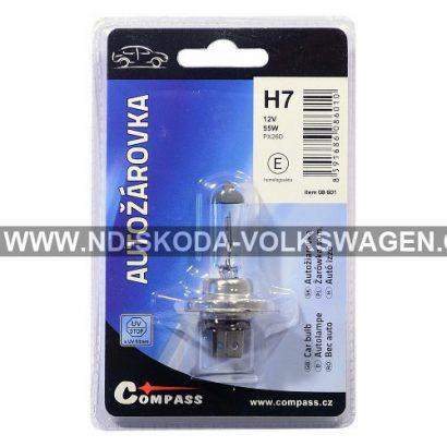 HALOGENOVÁ ŽÁROVKA H7 12V 55W PX26d