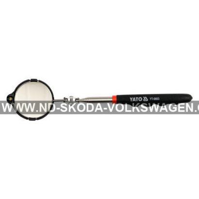 ZRCÁTKO KONTROLNÍ TELESKOPICKÉ S LED OSVĚTLENÍM 265-920MM