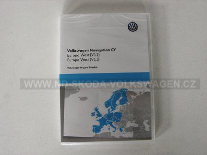 NAVIGAČNÍ DVD CY ZÁPADNÍ EVROPA (VERZE V11) PRO NAVIGACE VW RNS 510/RNS 810 A ŠKODA RNS COLUMBUS