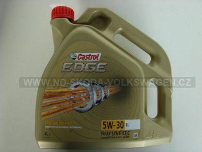 MOTOROVÝ OLEJ CASTROL EDGE TITANIUM FST LL 5W-30 (4L) I PRO DPF FILTRY SPECIFIKACE VW:  504.00/507.00