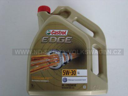 MOTOROVÝ OLEJ CASTROL EDGE TITANIUM FST LL 5W-30 I PRO DPF FILTRY (5L) SPECIFIKACE VW: 504.00/507.00