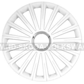 OZDOBNÉ KRYTY KOL ( POKLICE ) RADICAL PRO WHITE R15 (SADA 4KS)