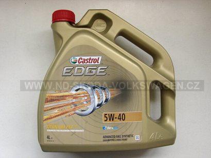 MOTOROVÝ OLEJ CASTROL EDGE TITANIUM FST 5W-40 (4L), SPECIFIKACE VW: 502.00/505.00/505.01