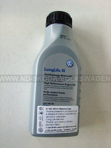 MOTOROVÝ OLEJ SAE 5W-30 (500 ML) NORMA: VW 504.00/507.00