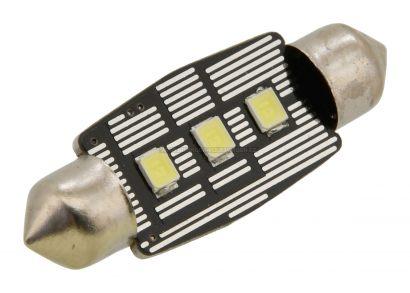 ŽÁROVKA 3 LED SMD 12V suf.11X38 SV8.5 NEW-CAN-BUS BÍLÁ (SADA 2KS)