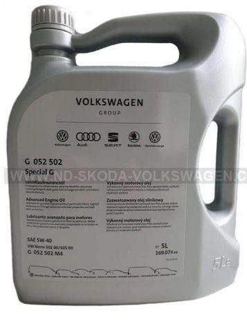 MOTOROVÝ OLEJ SPECIAL G 5W-40 (5L) VW SPECIFIKACE: 502.00/505.00