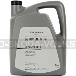 ORIGINÁLNÍ MOTOROVÝ OLEJ 0W-20 LONGLIFE IV (5L), VW NORMA:508.00/509.00