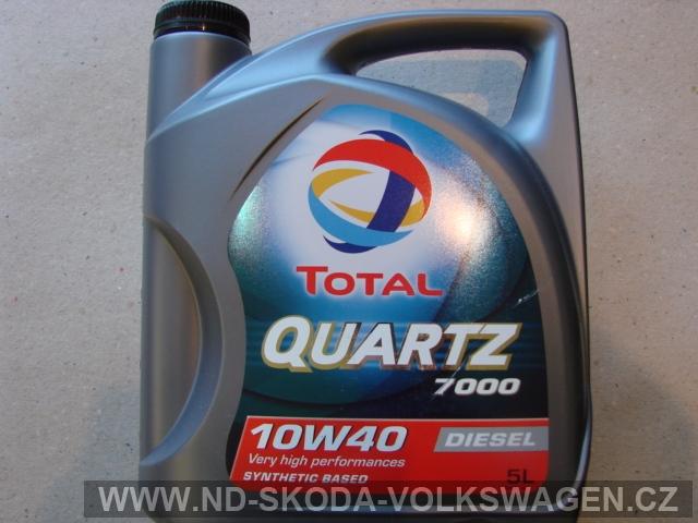 POLOSYNTETICKÝ OLEJ TOTAL QUARTZ 7000 DIESEL (5L), NORMA: VW501.01/505.00