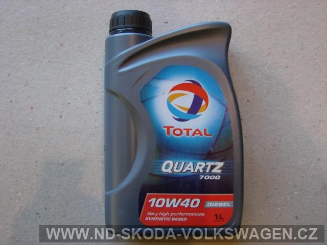 POLOSYNTETICKÝ OLEJ TOTAL QUARTZ 7000 DIESEL (1L), NORMA: VW501.01/505.00
