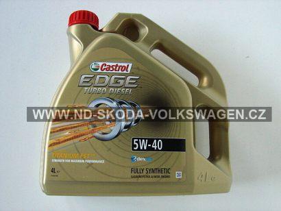 PLNĚ SYNTETICKÝ MOTOROVÝ OLEJ CASTROL EDGE TURBO DIESEL 5W-40 TITANIUM FST (4L) SPECIFIKACE VW: 502.00/505.00/505.01