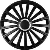 OZDOBNÉ KRYTY KOL (POKLICE) RADICAL PRO BLACK R15 (SADA 4 KS)