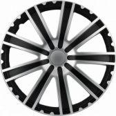 OZDOBNÉ KRYTY KOL (POKLICE) R14 TORO SILVER&BLACK (SADA 4KS)